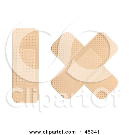 Royalty Free  Rf  Clipart Illustration Of A Single Bandage Strip And A