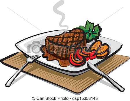 Vector   Grilled Beef Steak   Stock Illustration Royalty Free