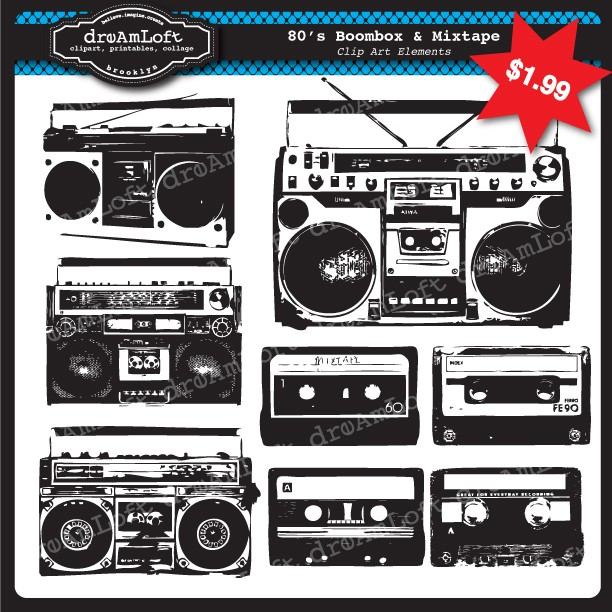 80s Boombox Clip Art Http   Www Etsy Com Listing 65684167 Boombox And