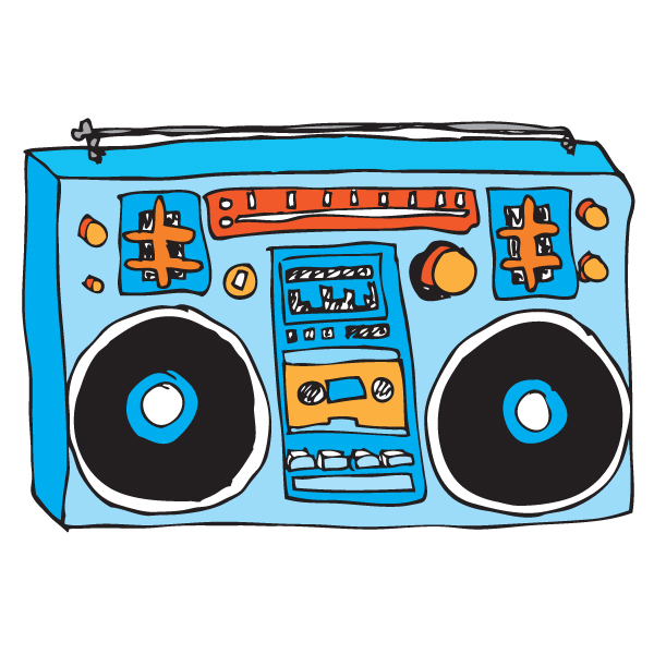 80s Boombox Clipart Boombox Drawing   Clipart Best