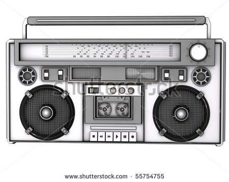 80s Boombox Clipart Front View Of A 3d Boombox    Stock Photo Front