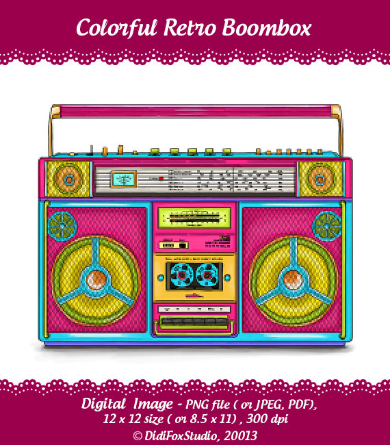 80s Boombox Clipart Retro Boombox Printable   Hd Walls   Find