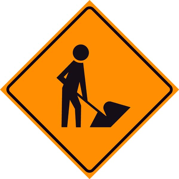Man At Work Road Sign   Clipart Best