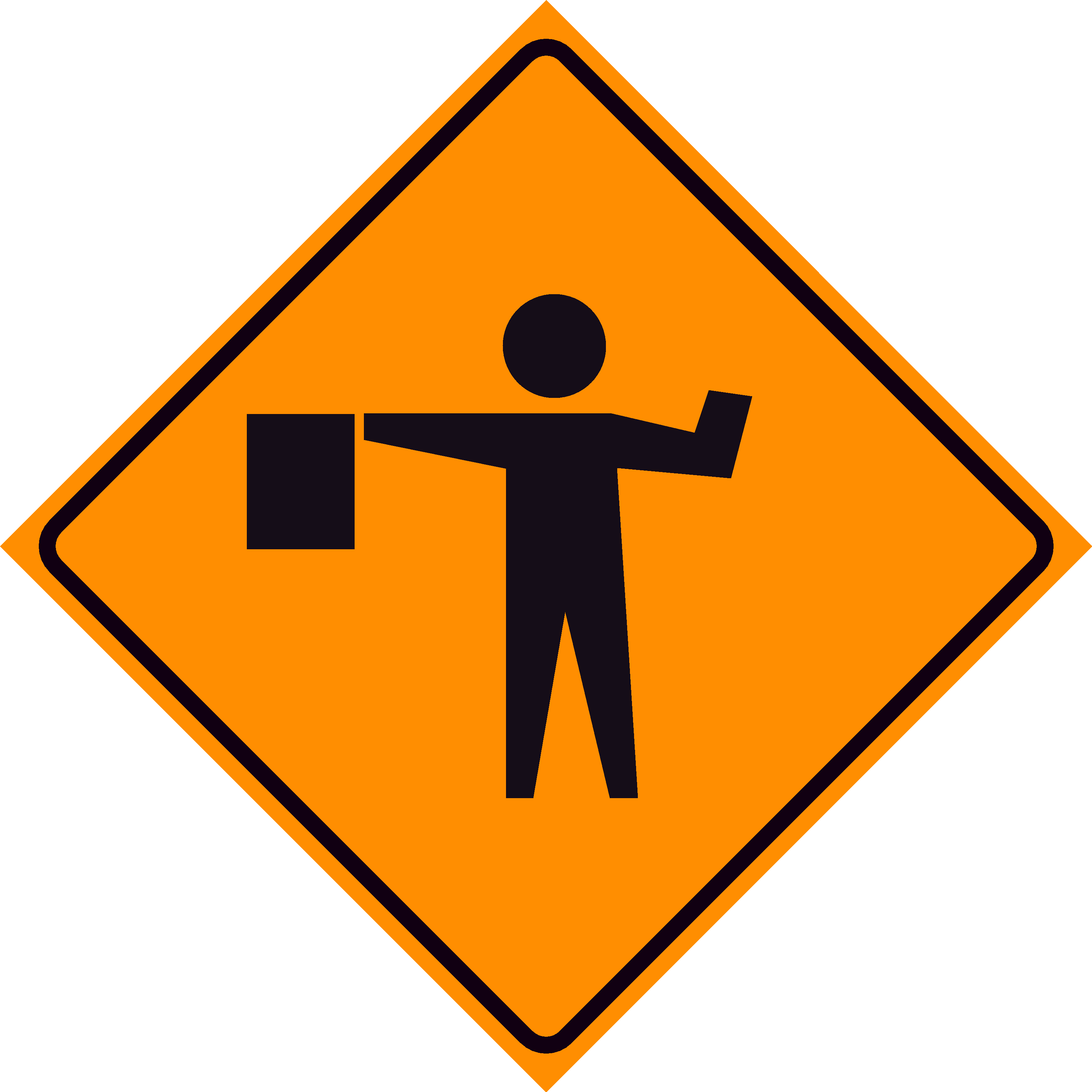 Men At Work Road Sign   Clipart Best