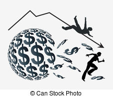 Stock Market Crash Illustrations And Clipart