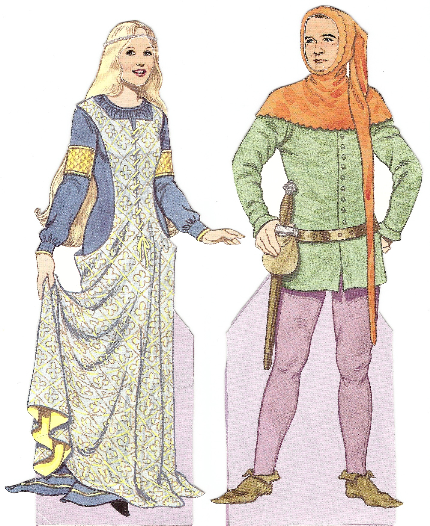 Tom Tierney Medieval Costumes Paper Dolls