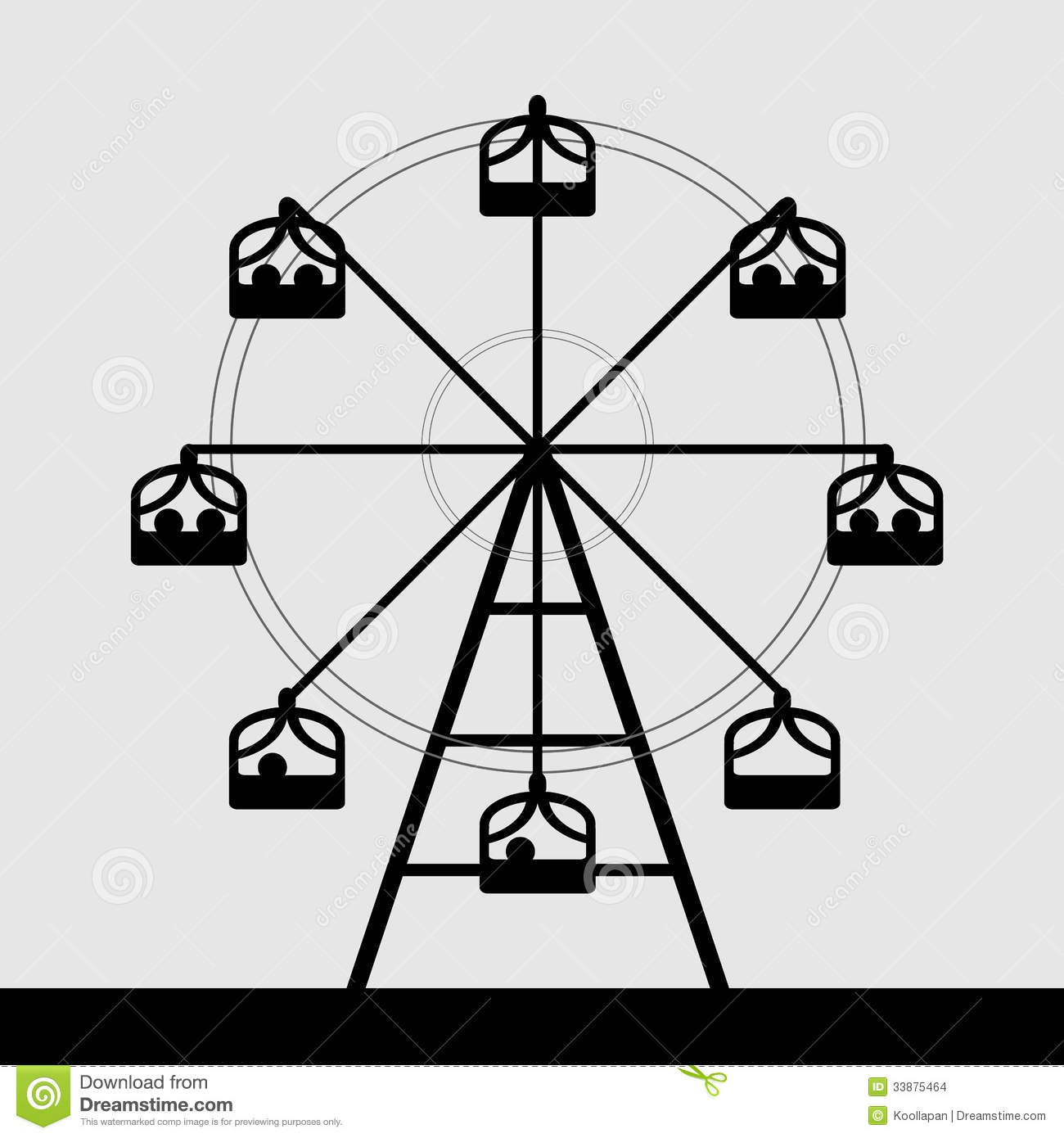 Vector Of Ferris Wheel Stock Images   Image  33875464