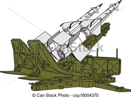 Air Defense Missile    Csp18004370   Search Clipart Illustration