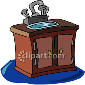 Bathroom Vanity With Sink   Royalty Free Clipart Picture