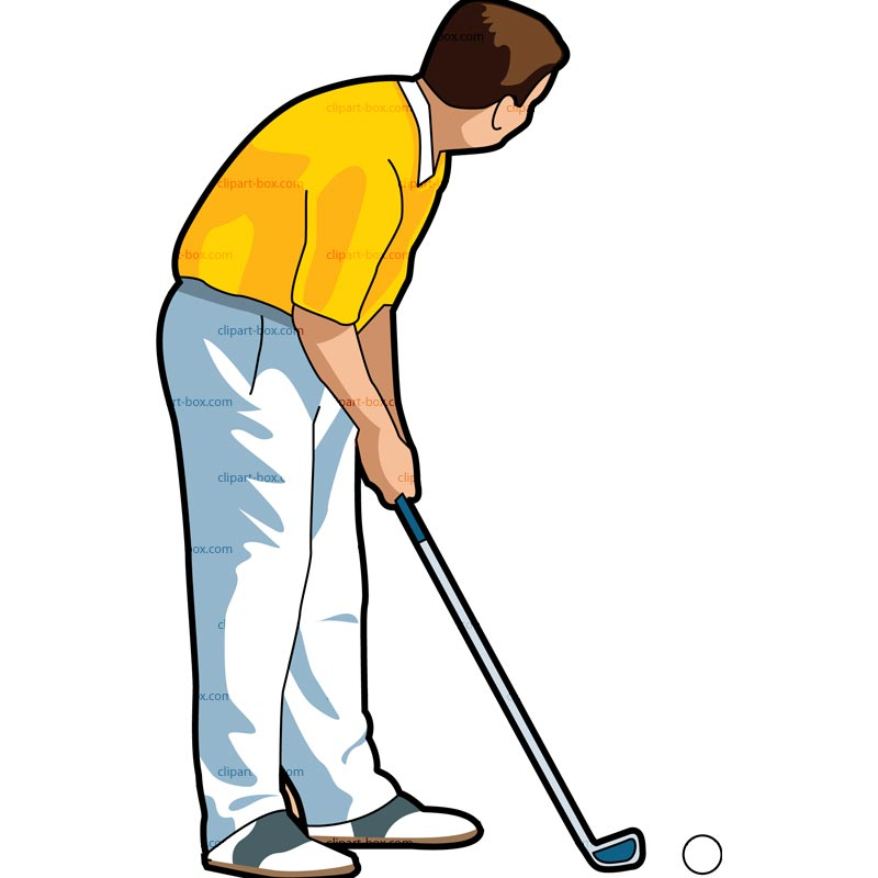 Clipart Golf Player   Royalty Free Vector Design