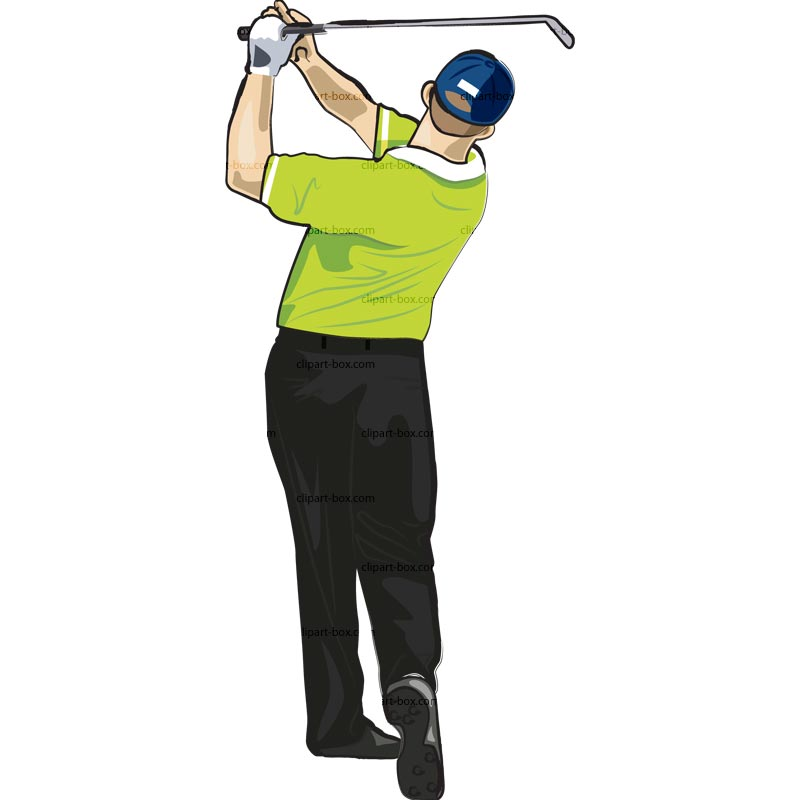 Clipart Golf Player Swing   Royalty Free Vector Design