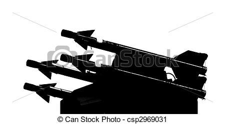 Clipart Of Missile System   A Surface To Air Missile Battery Seen In