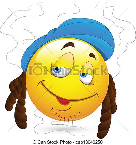 Clipart Vector Of Stinky Man Smiley Face   Conceptual Drawing Art Of