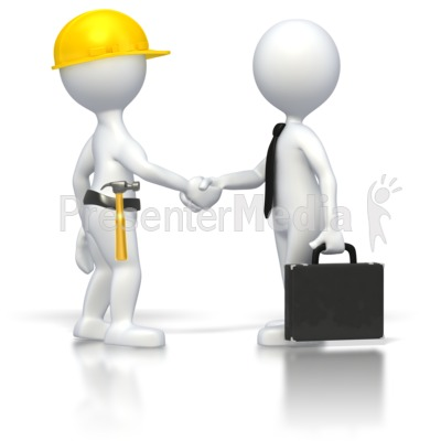 Construction Business Deal   3d Figures   Great Clipart For