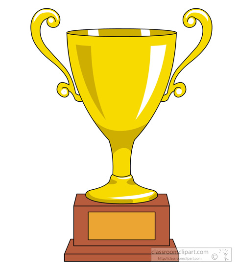 Gold Trophy Clipart - Clipart Kid