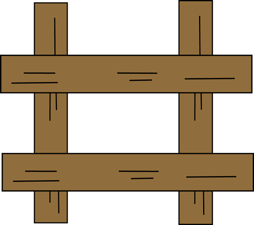 Brown fence clipart suggest