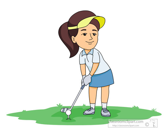 Golf Clipart   Female Golf Player   Classroom Clipart