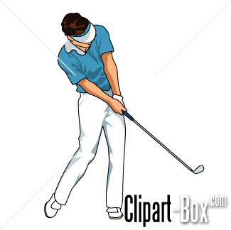 Related Golf Player Swing 3 Cliparts