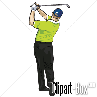 Related Golf Player Swing Cliparts