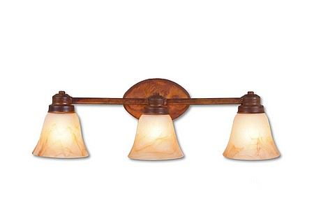 Rustic Lakeshire Triple Bath Vanity Light   Lodgelighting Com