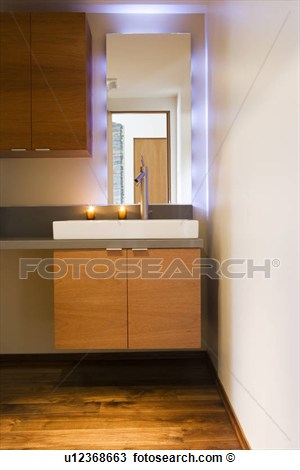 Stock Photo   Modern Bathroom Vanity  Fotosearch   Search Stock Images