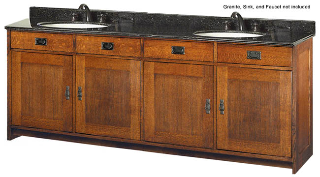 Style Furniture Oak Furniture  Calabasas Double Sink Bathroom Vanity