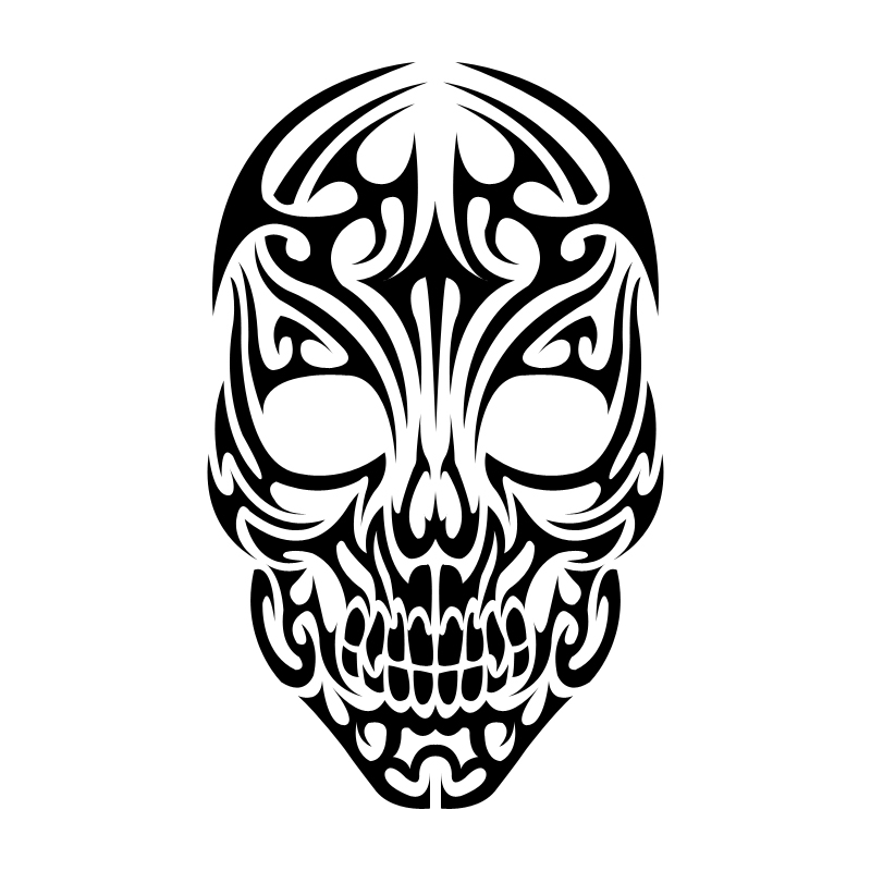 Tribal Skull   Free Cliparts That You Can Download To You Computer