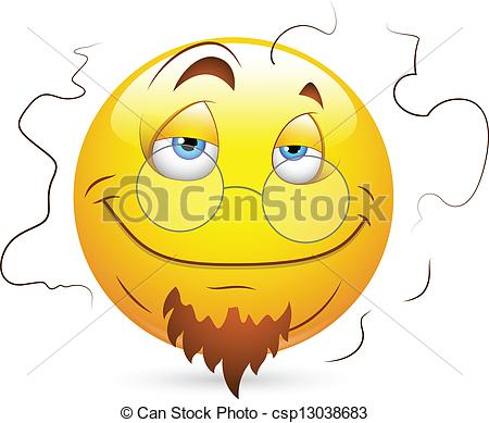 Vector Of Stinky Smiley Character Face   Creative Abstract Conceptual