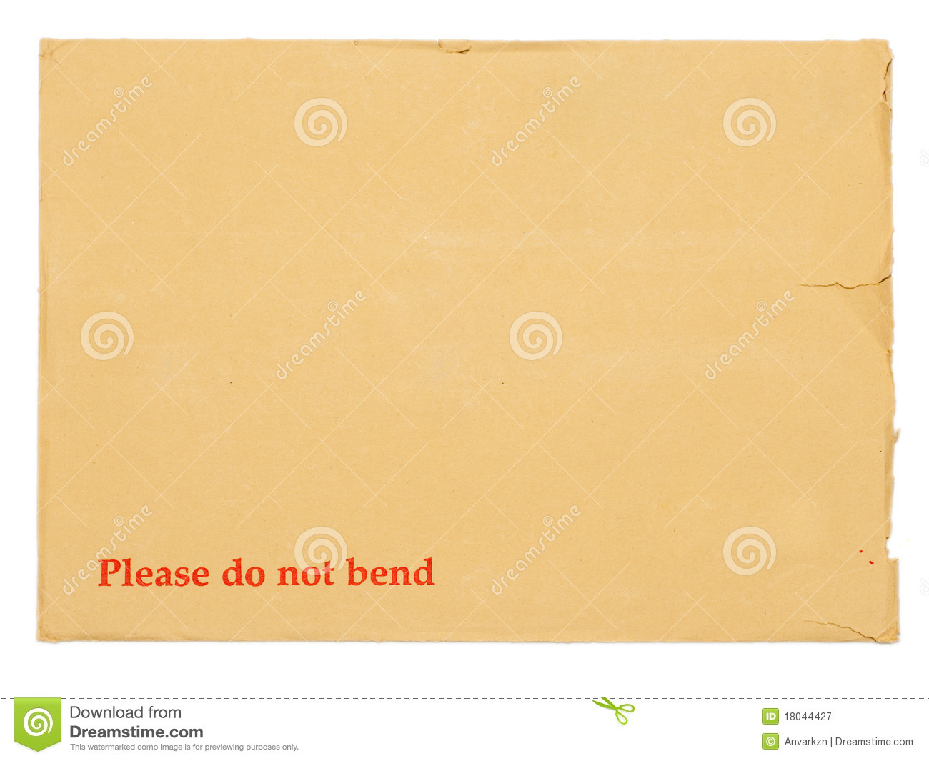 Blank Envelope For Important Documents  Royalty Free Stock Photography