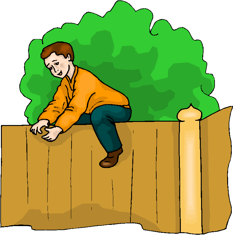 Boy Climb The Fence Free Clipart   Free Microsoft Clipart