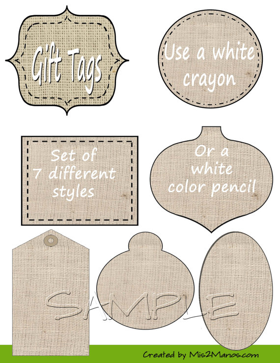 Burlap Frames Clipart  Burlap Frames Clipart Pack With Burlap Tags