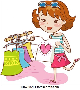 Girls Shopping Out Clipart - Clipart Suggest
