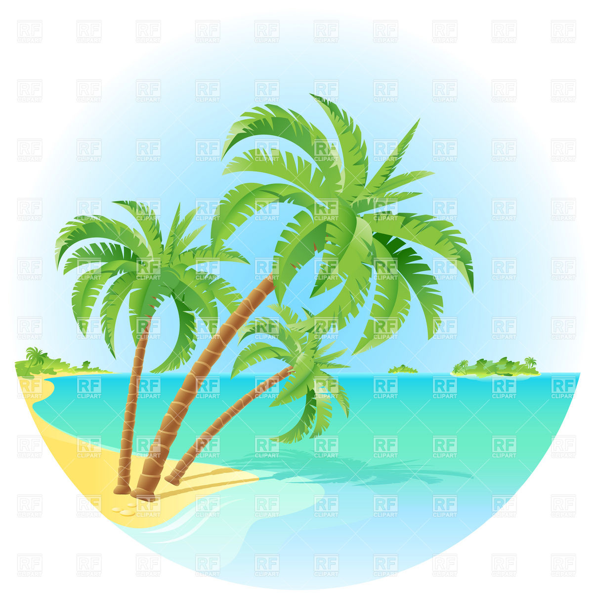 Island Palm Tree Clipart - Clipart Kid