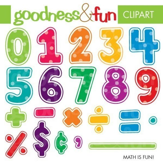 Digital Clipart Math Is Fun By Goodnessandfun On Etsy