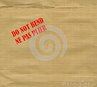 Do Not Bend   Ne Pas Plier   International English And French Warning