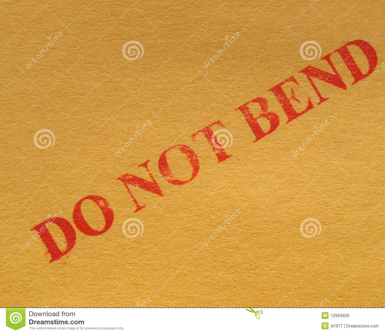 Do Not Bend Royalty Free Stock Image   Image  12959926