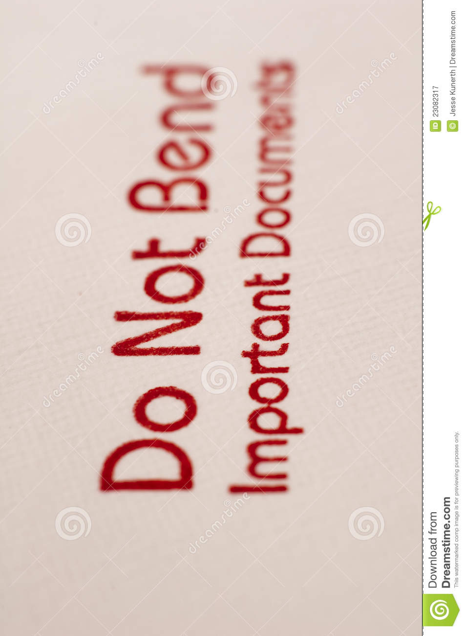 Do Not Bend Stamp Royalty Free Stock Photography   Image  23082317
