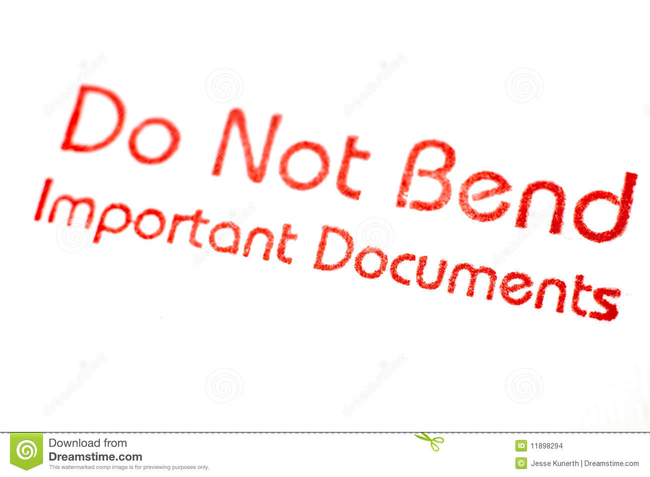 Do Not Bend Stamp Stock Images   Image  11898294