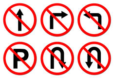 Do Not Do On Red Circle Traffic Sign Stock Image