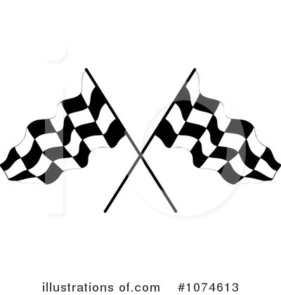 Free  Rf  Racing Flag Clipart Illustration  1074613 By Pams Clipart