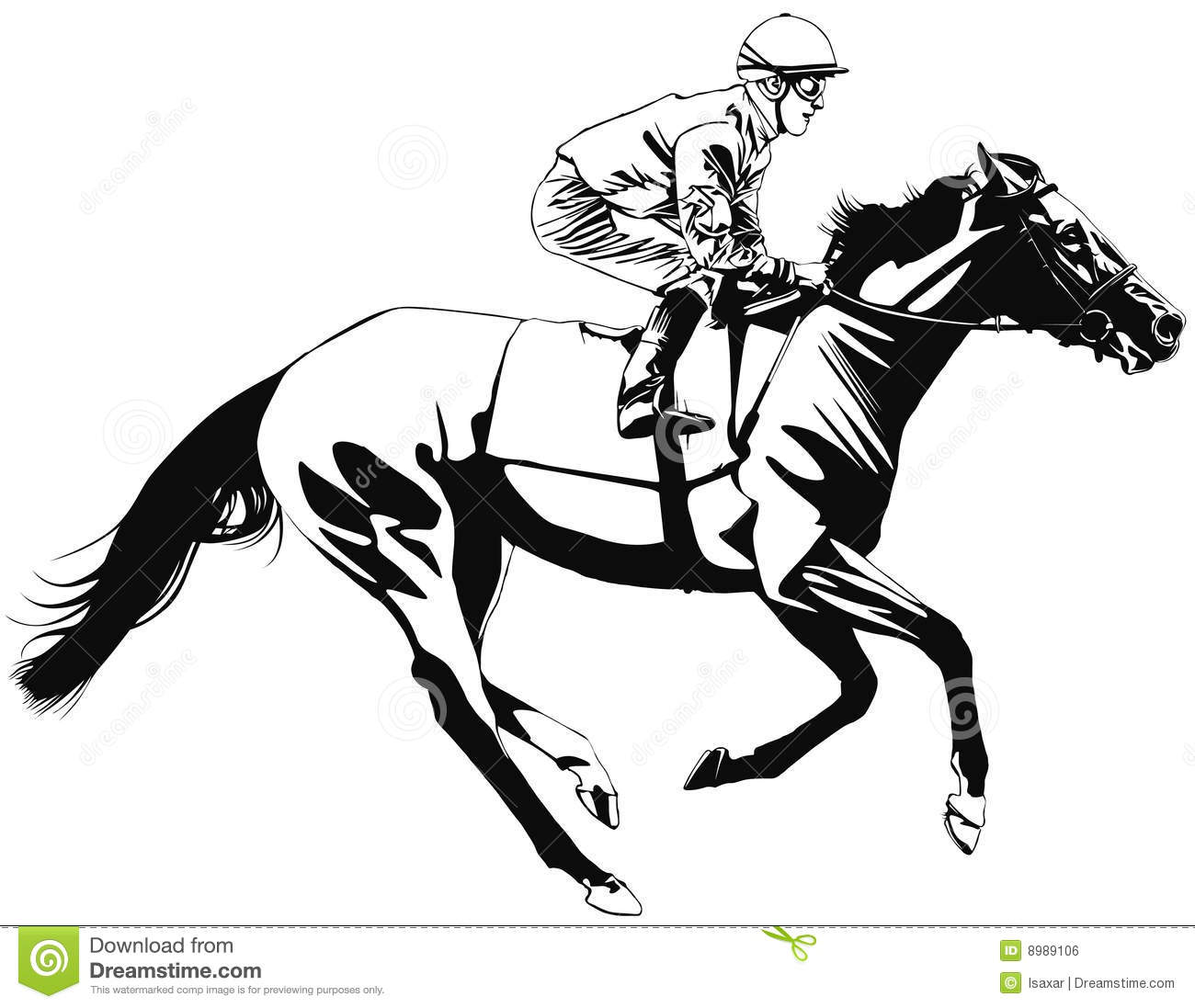 Horse Racing Clipart Racing Horse And Jockey