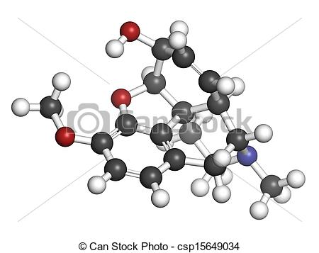 Illustration   Codeine Pain And Cough Relief Drug Chemical Structure
