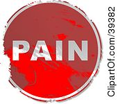 Pain Clip Art Clipart Illustration Of A