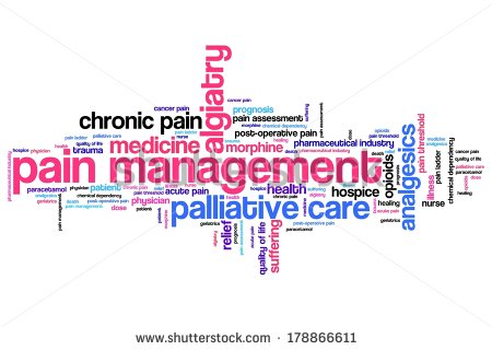 Pain Management And Palliative Care Issues And Concepts Word Cloud