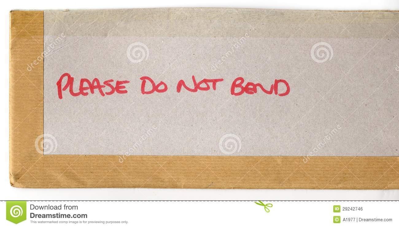 Please Do Not Bend Royalty Free Stock Image   Image  29242746
