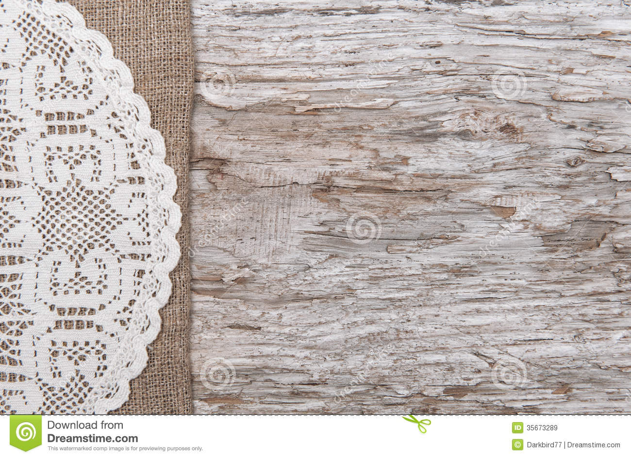 Royalty Free Burlap And Lace Background Old Wood Bordered By Burlap