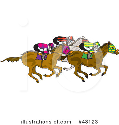 Royalty Free  Rf  Horse Race Clipart Illustration By Dennis Holmes