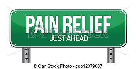Vector Clipart Of Road Traffic Sign With A Pain Relief Concept