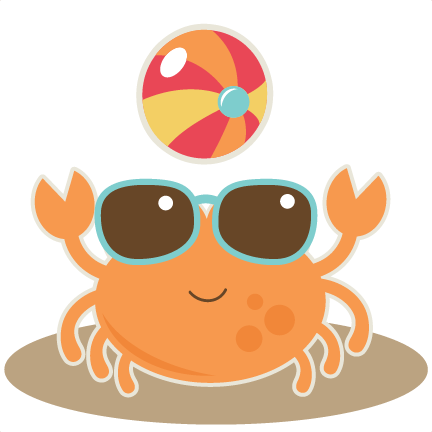 With Beach Ball Svg Cut File For Scrapbooking Crab Svg Cut File Beach