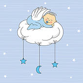Baby Boy Baptism Clipart Baby Boy Dressed Angel